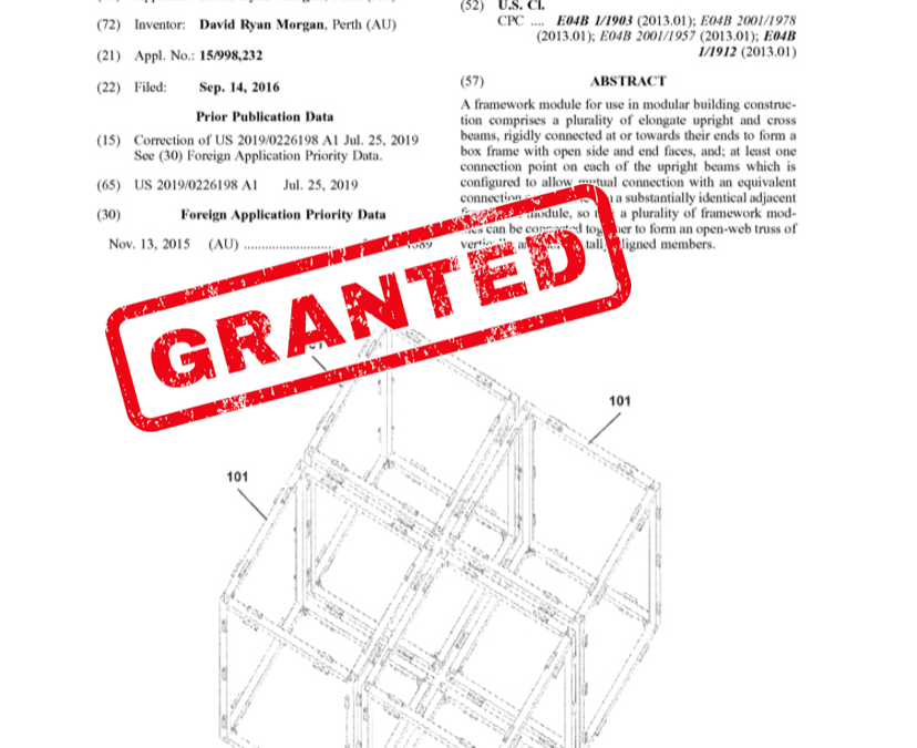 US Patent Granted